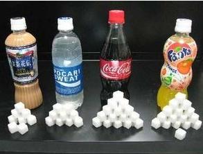 見て感じるドリンクに含まれる砂糖の量がすごい