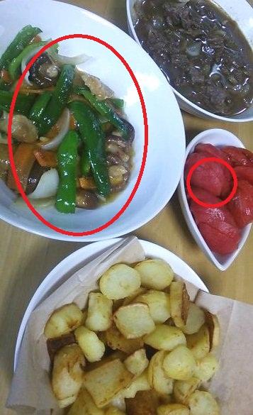 野菜生姜炒め