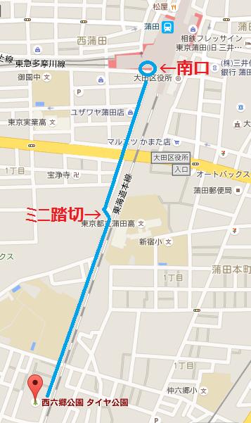 自転車の 蒲田 自転車 多い : 南口からは、 線路沿いに ほぼ ...