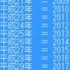 和暦西暦対応表~昭和を19何年に変換~