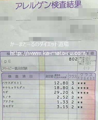 【アレルギー検査結果の読み方】 花粉 ハウスダスト ダニ IgE値 ...