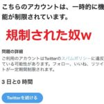 【Twitter】無実の罪でリツイート&いいねが出来なくなる現象【凍結】規制